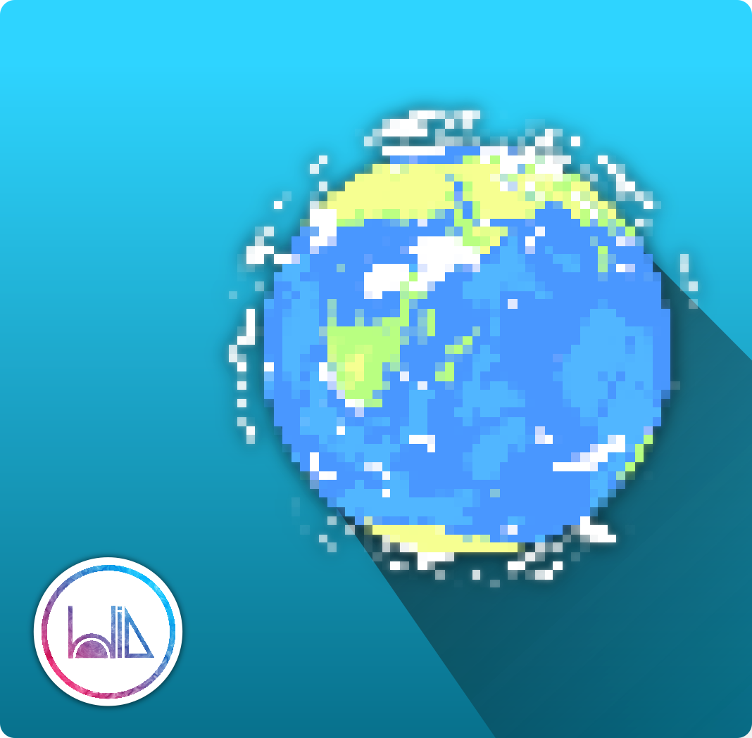 Animating A Stylized Pixel Planet In Blender 2.8